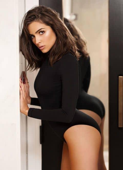 Olivia Culpo sexy in black