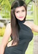 cute Filipina animal lover in black dress