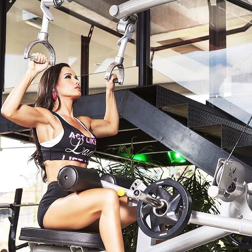 Fernanda D'avila doing workout