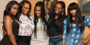 Cute Ivory Coast girls smiling