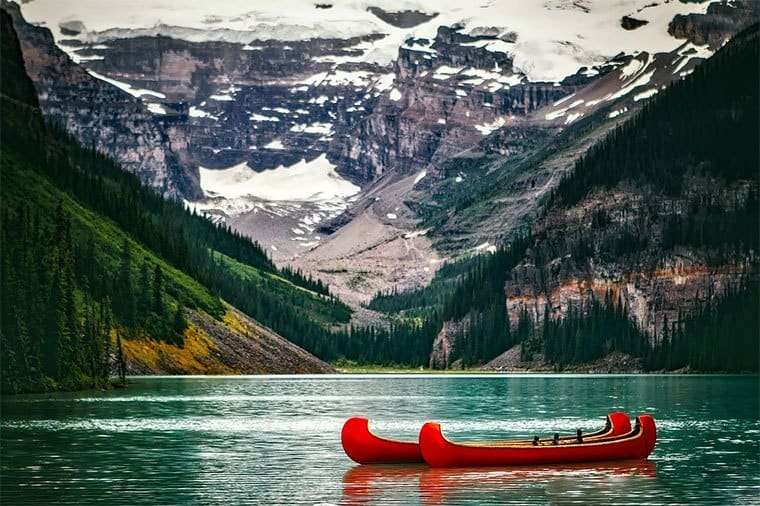 beautiful Lake Louise in Canada