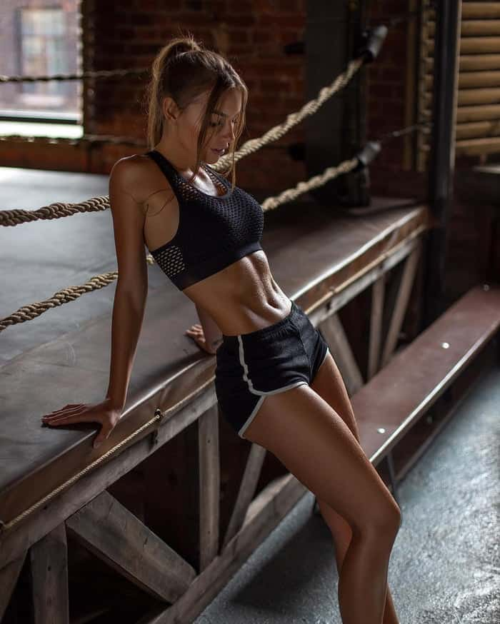 Galina Dubenenko and her nice tight abs