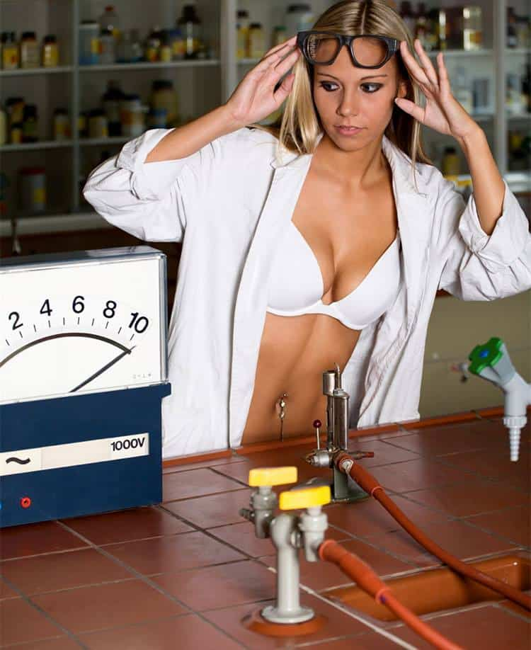 hot girl scientist