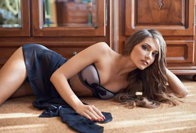 Kristina Oparina on the floor