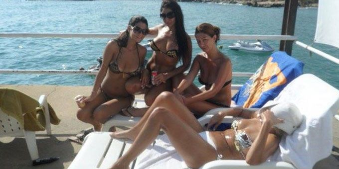Lebanese bikini girls on the yacht