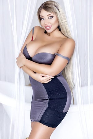 seductive blonde Ukraine girl