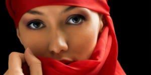 Arab girl with beautiful eyes