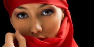 Arab girl with beautiful eyes