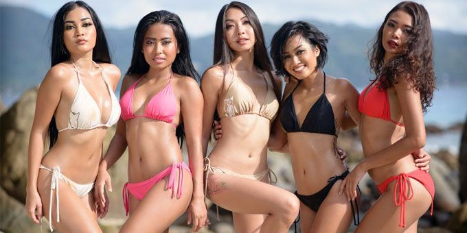hot bikini babes from Asia