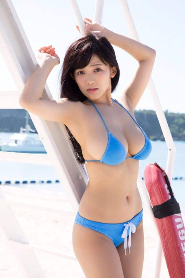 Jun Amaki posing at the yacht