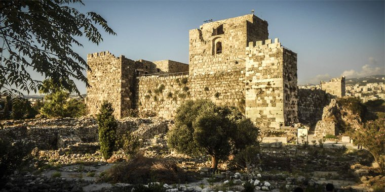 Byblos Castle in Byblos Lebanon