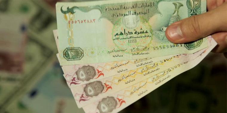 Emirati Dirhams on hand