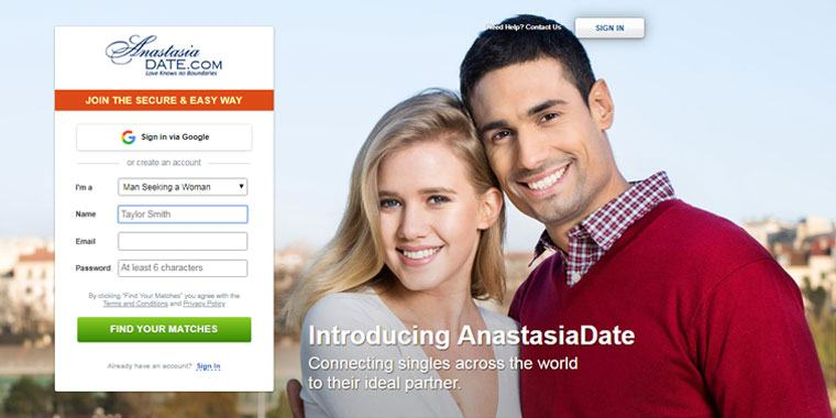 Anastasia date front page