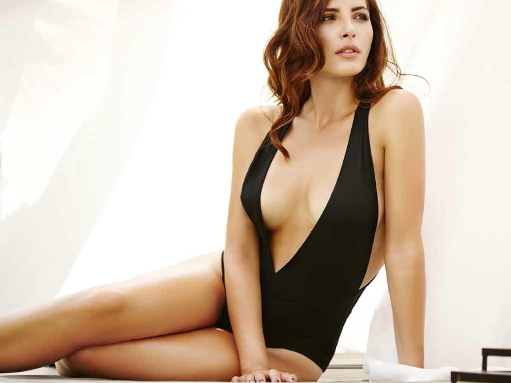 Andrea Duro in black bikini