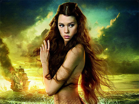 Astrid Bergès-Frisbey as a mermaid