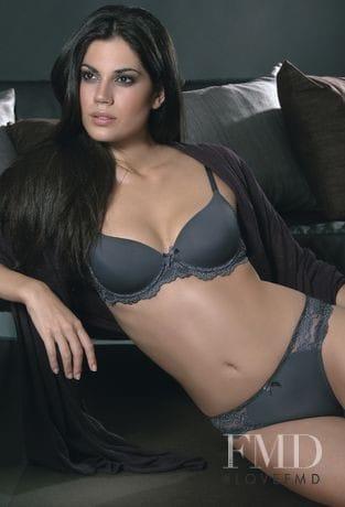 Claudia Moro in gray bikini lingerie