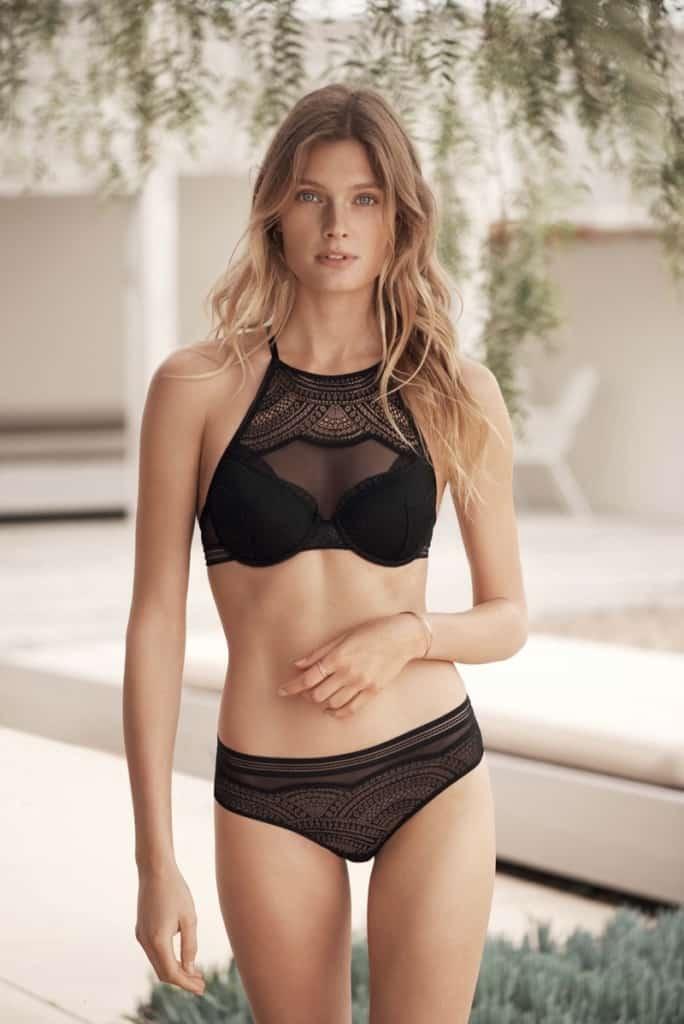 Constance Jablonski bikini lingerie two piece