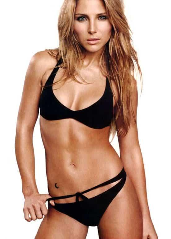 Elsa Pataky in sexy black bikini