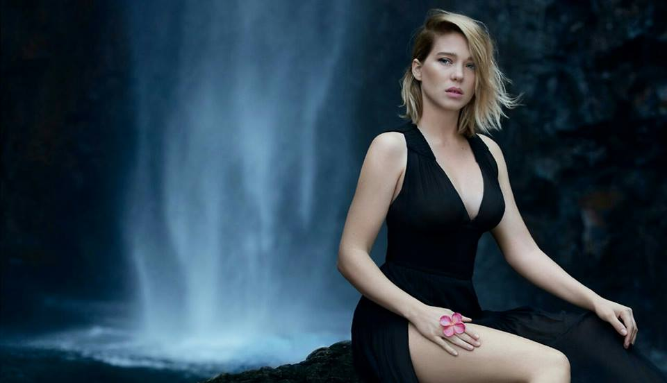 Lea Seydoux pictorial in a calm background