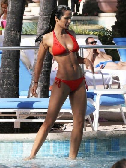 Padma Lakshmi looking sexy in 2 piece bikini