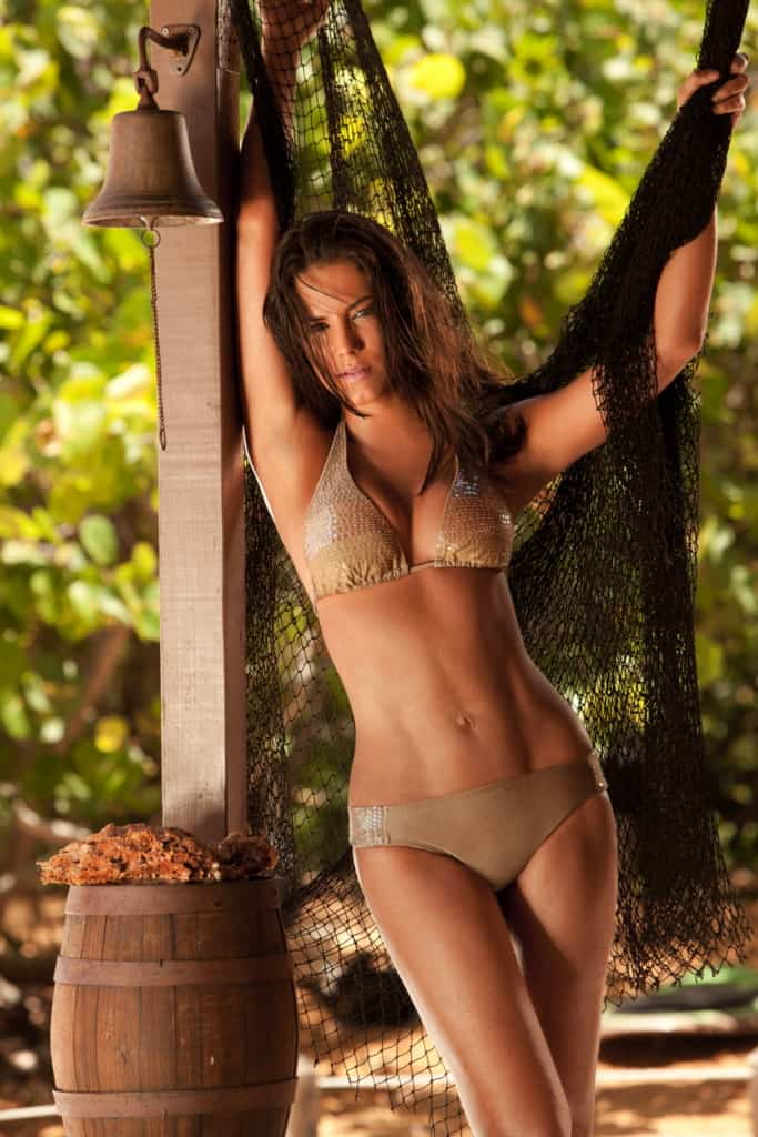 Gaby Espino in brown two piece bikini
