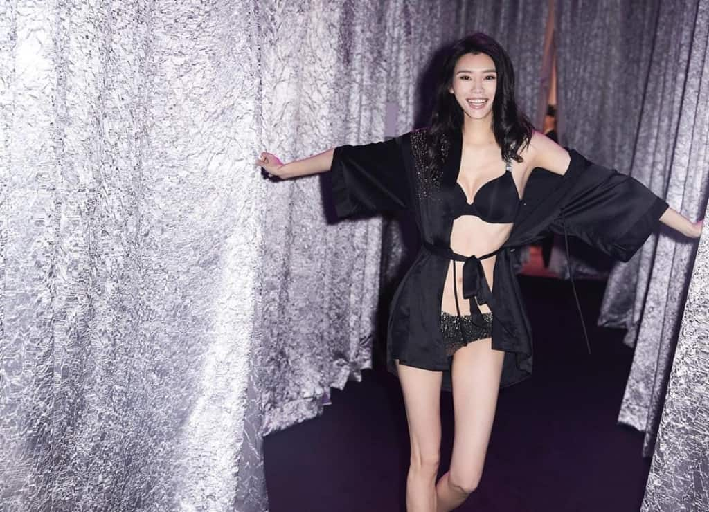Ming Xi at the Victoria's Secret fashion show