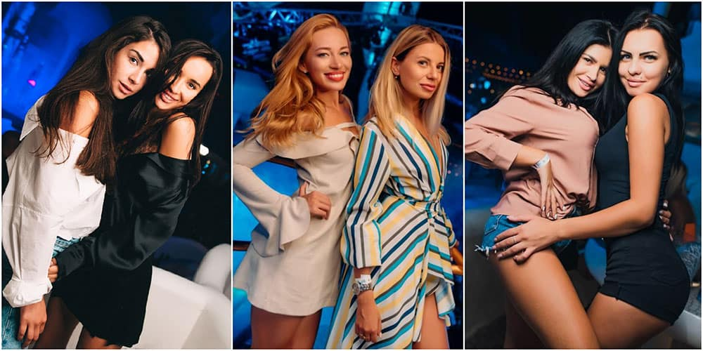 gorgeous girls from Ibiza club