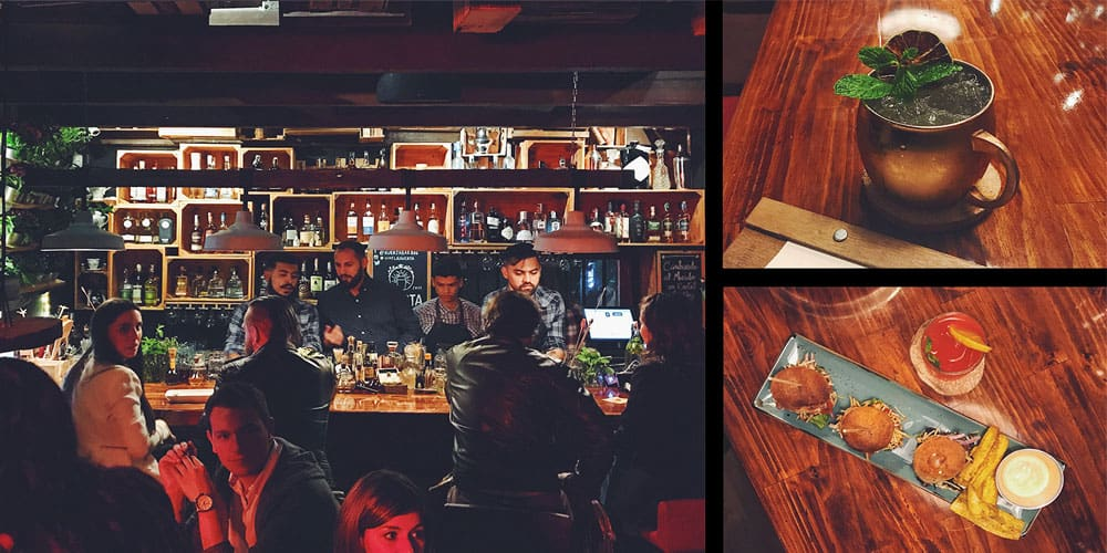 Huerta Bar in Bogota, Colombia