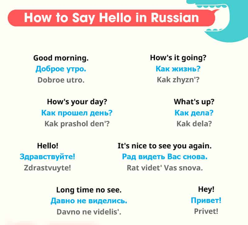 Russian language greetings