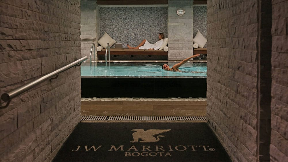 The JW Marriott spa wet zone