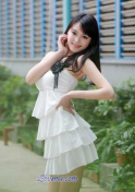 Chinese girl beautiful in white dress