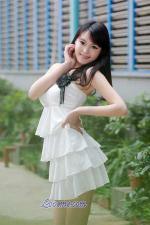 Chinese girl beautiful in white dress