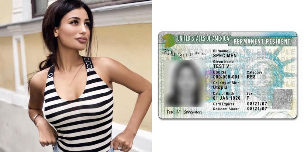 lovely Polish girl and a us green card