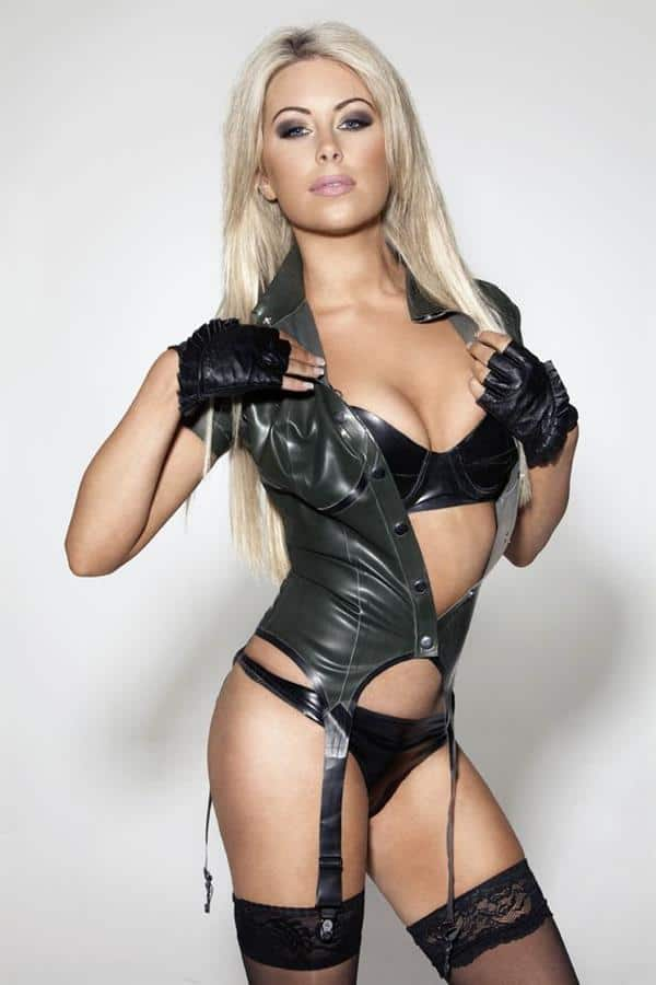 Tiffany Stanley stunning Irish model in lingerie