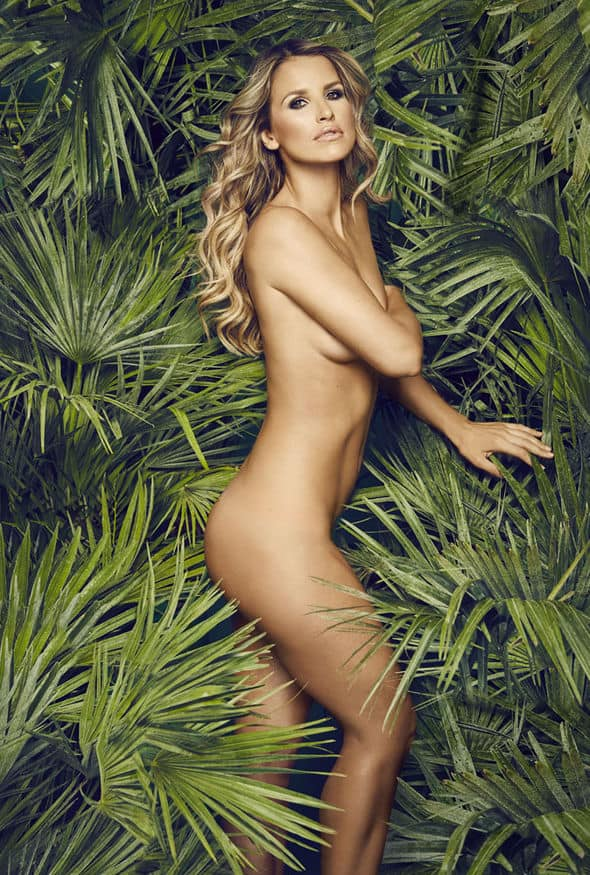 Vogue Williams naked pictorial behind leaves