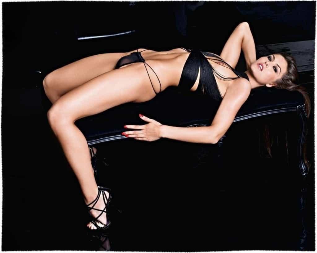Fiona Erdmann seductive on the couch