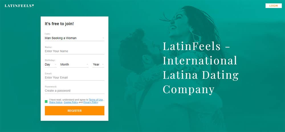 Latin feels dating website front page
