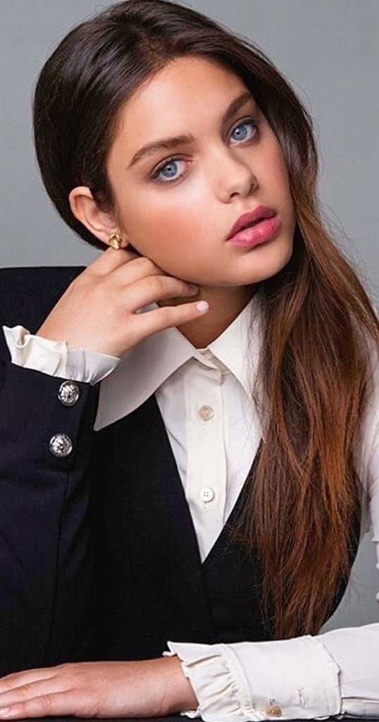Odeya Rush looking sexy in a formal suit