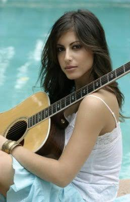 Roni Meron picture with a guitar