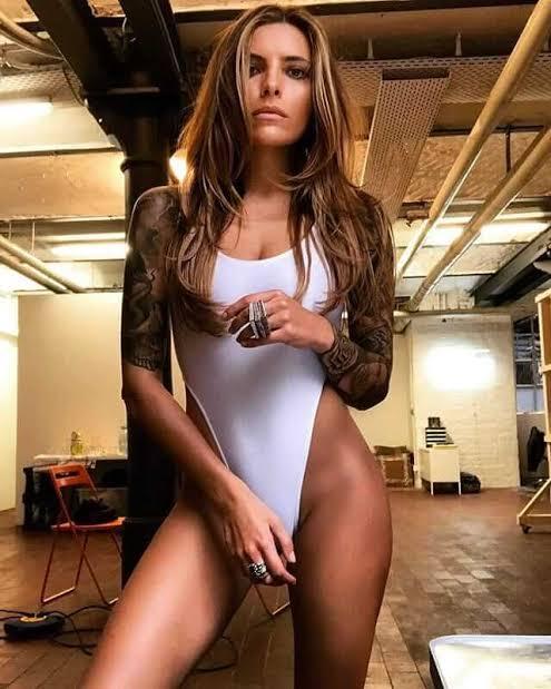 Sophia Thomalla hot and sexy tattooed bod