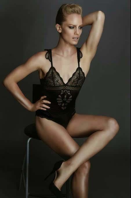 Yaara Benbenishty in sexy black lingerie