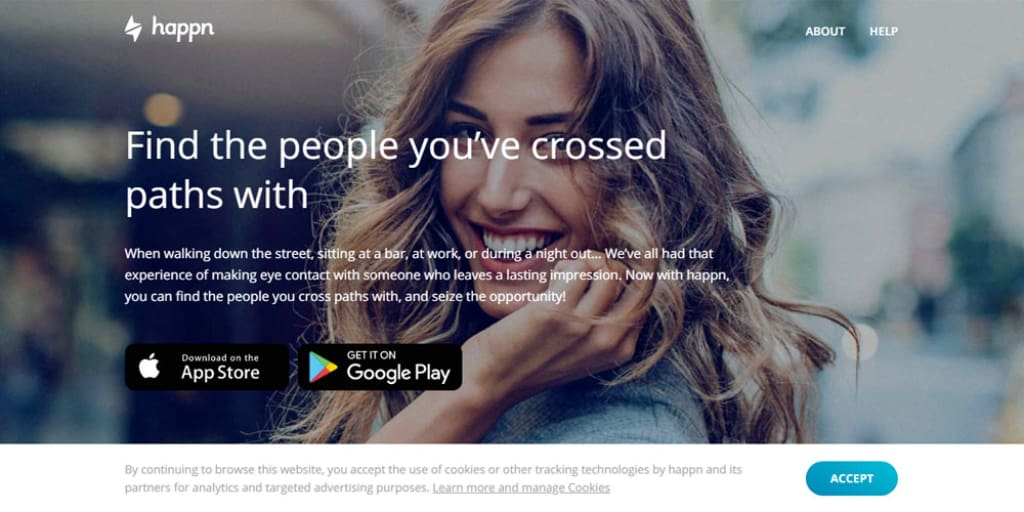Happn dating site front page