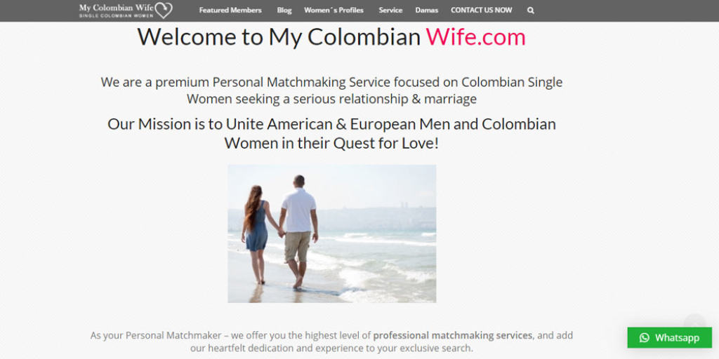 My Colombian Wife dating site