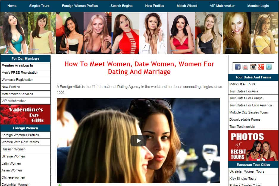A Foreign Affair - how to meet women page