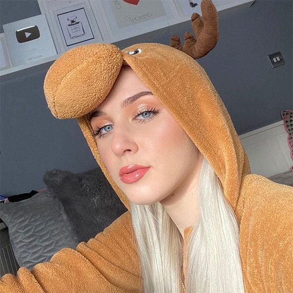 Angelika Oles cute in a moose onesie outfit