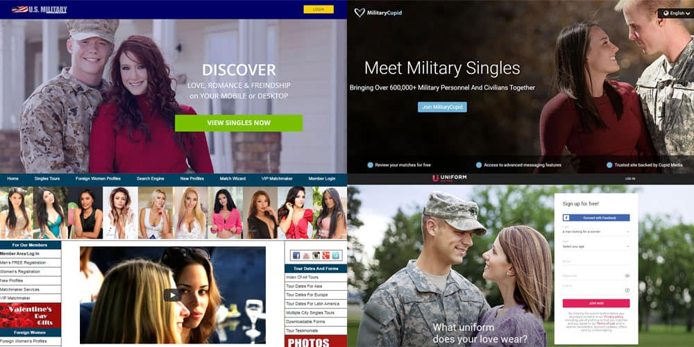 military dating sites for single military men