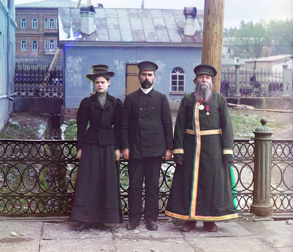 a simple village maiden and two Russian men