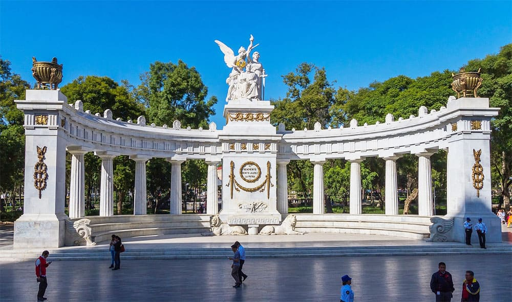 Alameda Central park in Mexico