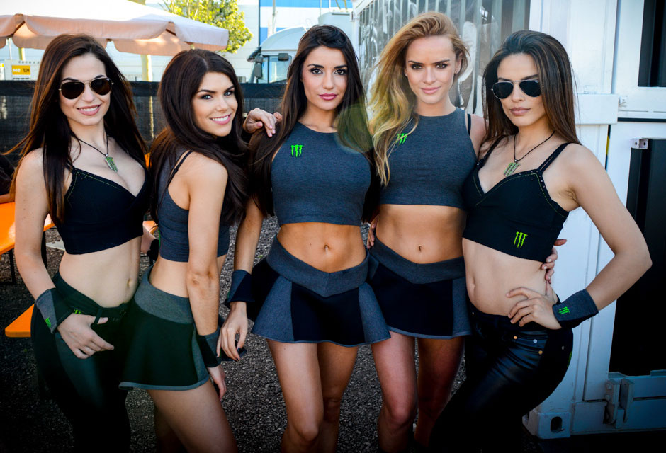 hot Barcelona girls at a monster event