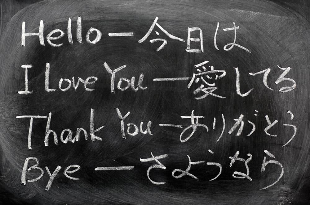 Japanese translations of common English words